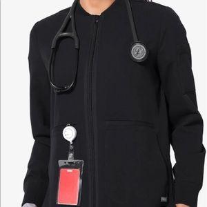 Figs M black Bellery scrub jacket